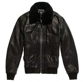 Superdry Ανδρικό δερμάτινο jacket